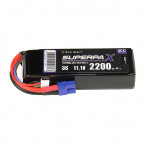Radient 3S 2200mAh 11.1V 50C LiPo Battery w/ EC3 Connector Plug