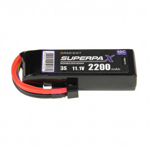 Radient 3S 2200mAh 11.1V 50C LiPo Battery w/ Deans (HCT) Connector Plug