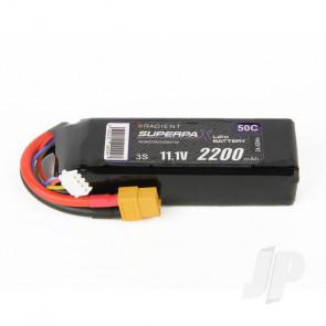 Radient LiPo Battery 3S 2200mAh 11.1V 50C XT60 Connector Plug