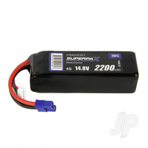 Radient LiPo Battery 4S 2200mAh 14.8V 30C EC3 Connector Plug