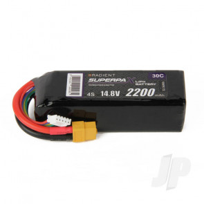 Radient LiPo Battery 4S 2200mAh 14.8V 30C XT60 Connector Plug