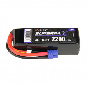 Radient 4S 2200mAh 14.8V 50C LiPo Battery w/ EC3 Connector Plug