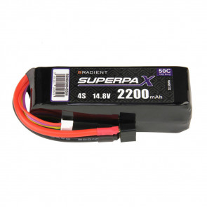 Radient 4S 2200mAh 14.8V 50C LiPo Battery w/ Deans (HCT) Connector Plug