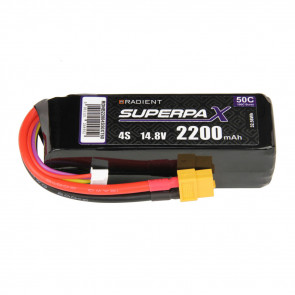 Radient 4S 2200mAh 14.8V 50C LiPo Battery w/ XT60 Connector Plug