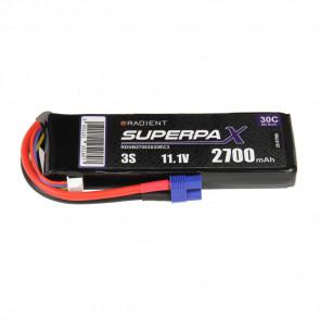 Radient 3S 2700mAh 11.1V 30C LiPo Battery w/ EC3 Connector Plug