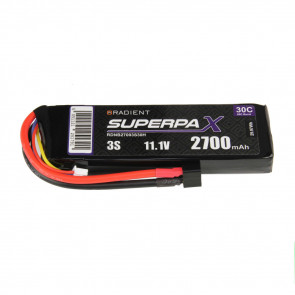 Radient 3S 2700mAh 11.1V 30C LiPo Battery w/ Deans (HCT) Connector Plug