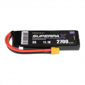 Radient 3S 2700mAh 11.1V 30C LiPo Battery w/ XT60 Connector Plug