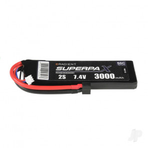 Radient 3000mAh 2S 7.4v 50C RC LiPo Battery w/ Deans (HCT) Connector Plug