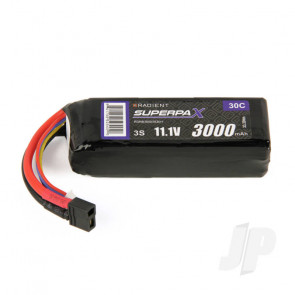 Radient LiPo Battery 3S 3000mAh 11.1V 30C Deans HCT T-style Connector Plug