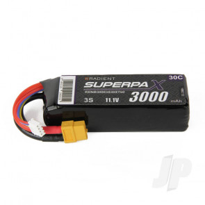 Radient LiPo Battery 3S 3000mAh 11.1V 30C XT60 Connector Plug