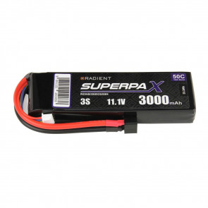 Radient 3S 3000mAh 11.1V 50C LiPo Battery w/ Deans (HCT) Connector Plug