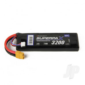 Radient LiPo Battery 2S 3200mAh 7.4V 30C XT60 Connector Plug