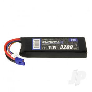 Radient LiPo Battery 3S 3200mAh 11.1V 20C EC3 Connector Plug