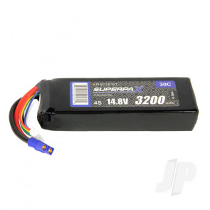 Radient LiPo Battery 4S 3200mAh 14.8V 30C EC3 Connector Plug