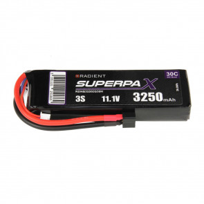Radient 3S 3250mAh 11.1V 30C LiPo Battery w/ Deans (HCT) Connector Plug