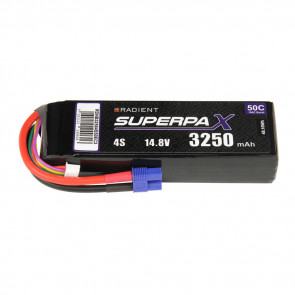 Radient 4S 3250mAh 14.8V 50C LiPo Battery w/ EC3 Connector Plug