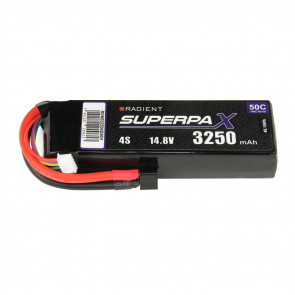 Radient 4S 3250mAh 14.8V 50C LiPo Battery w/ Deans (HCT) Connector Plug