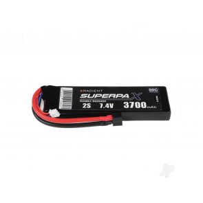 Radient 3700mAh 2S 7.4v 50C RC LiPo Battery w/ Deans (HCT) Connector Plug