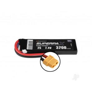 Radient 3700mAh 2S 7.4v 50C RC LiPo Battery w/ XT60 Connector Plug
