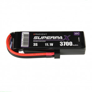 Radient 3S 3700mAh 11.1V 30C LiPo Battery w/ Deans (HCT) Connector Plug