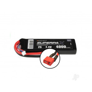 Radient 4000mAh 2S 7.4v 50C RC LiPo Battery w/ Deans (HCT) Connector Plug