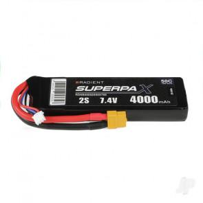 Radient 4000mAh 2S 7.4v 50C RC LiPo Battery w/ XT60 Connector Plug