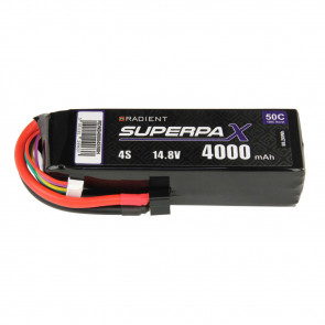 Radient 4S 4000mAh 14.8V 50C LiPo Battery w/ Deans (HCT) Connector Plug