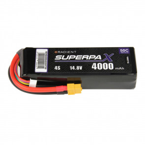 Radient 4S 4000mAh 14.8V 50C LiPo Battery w/ XT60 Connector Plug