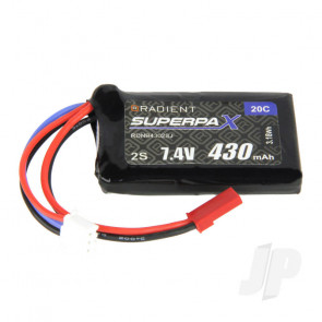 Radient LiPo Battery 2S 430mAh 7.4V 20C JST Connector Plug