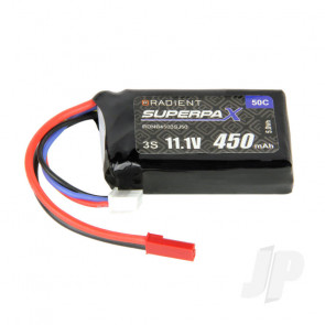 Radient LiPo Battery 3S 450mAh 11.1V 50C JST Connector Plug