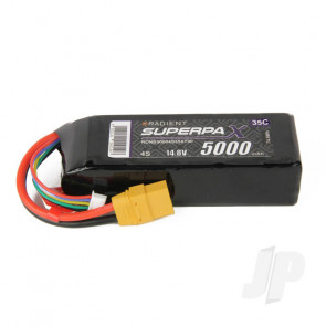 Radient LiPo Battery 4S 5000mAh 14.8V 35C XT90 Connector Plug