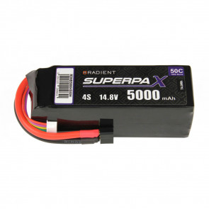Radient 4S 5000mAh 14.8V 50C LiPo Battery w/ Deans (HCT) Connector Plug