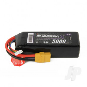Radient LiPo Battery 4S 5000mAh 14.8V 50C XT90 Connector Plug