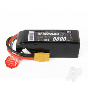 Radient LiPo Battery 5S 5000mAh 18.5V 50C XT90 Connector Plug