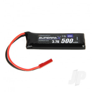 Radient LiPo Battery 1S 500mAh 3.7V 25C JST Connector Plug