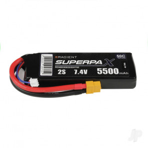 Radient 5500mAh 2S 7.4v 50C RC LiPo Battery w/ XT60 Connector Plug