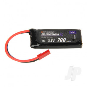 Radient LiPo Battery 1S 700mAh 3.7V 35C JST Connector Plug