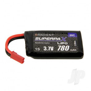 Radient LiPo Battery 1S 780mAh 3.7V 20C JST Connector Plug