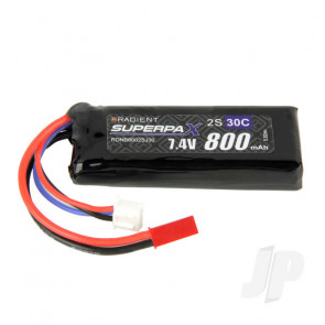 Radient LiPo Battery 2S 800mAh 7.4V 30C JST Connector Plug