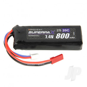 Radient LiPo Battery 2S 800mAh 7.4V 20C JST Connector Plug