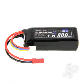 Radient LiPo Battery 3S 800mAh 11.1V 30C JST Connector Plug