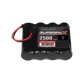 Radient NiMH 4.8V 2500mAh AA Flat Rx Receiver Battery Pack w/ JR Plug
