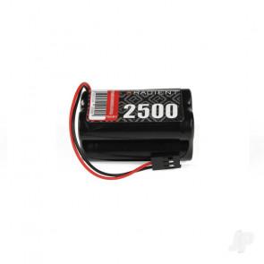 Radient NiMH 4.8V 2500mAh AA Square Rx Receiver Battery Pack w/ JR Plug