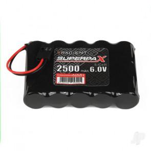 Radient NiMH 6.0V 2500mAh AA Flat Rx Receiver Battery Pack w/ JR Plug