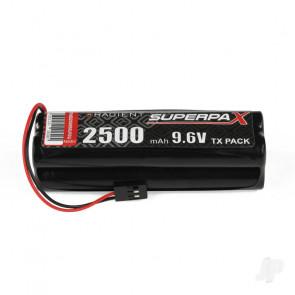 Radient NiMH 9.6V 2500mAh AA Square Tx Transmitter Battery Pack w/ JR Plug
