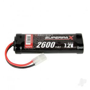 Radient NiMH Battery 7.2V 2600mAh SC Stick, Tamiya