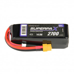 Radient 4S 2700mAh 14.8V 50C LiPo Battery w/ XT60 Connector Plug