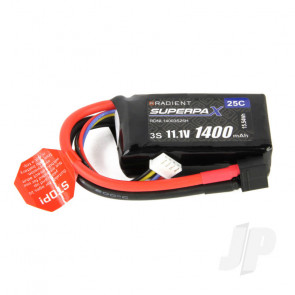 Radient LiPo Battery 3S 1400mAh 11.1V 25C Deans HCT T-style Connector Plug