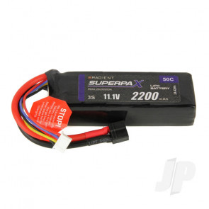 Radient LiPo Battery 3S 2200mAh 11.1V 50C Deans HCT T-style Connector Plug