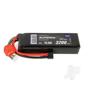 Radient LiPo Battery 4S 3200mAh 14.8V 30C Deans HCT T-style Connector Plug